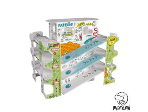 MoNumi BabyRun Πάρκινγκ Garage XXL Car Park από 3D Λευκό Χαρτόνι Ζωγραφικής