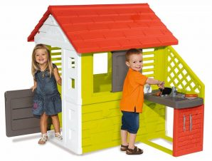 Smoby Σπιτακι Κηπου με Κουζίνα Smoby (810713)