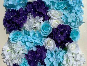 Artisti – Elena Τεχνητή Φυλλωσιά Τριαντάφυλλο Με Ορτανσία Μπλε 60εκ Χ 40εκ
