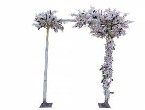 Artisti – Elena Τεχνητή Φυτό με άνθη ορχιδέας σε αψίδα απο ξύλο συμήδας 260εκ.