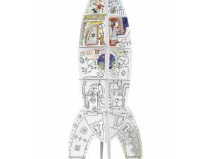 MoNumi BabyRun Πύραυλος XXL Rocket από 3D Λευκό Χαρτόνι Ζωγραφικής